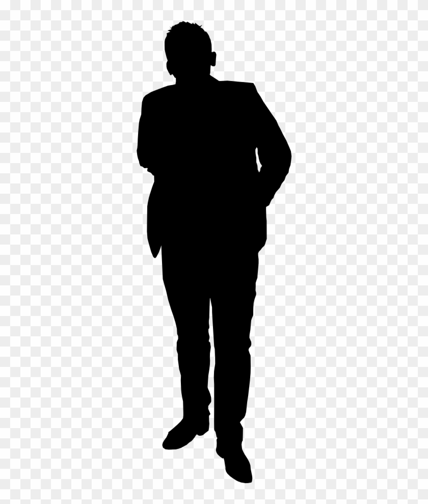 mypuzzledesign business man standing silhouette in - 840×989