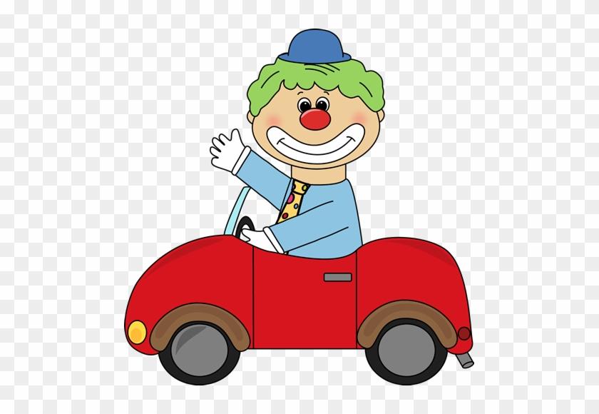 In A Clown Car Clip Art Image Clown Driving A Little - Clown In A Car Clipart #181385