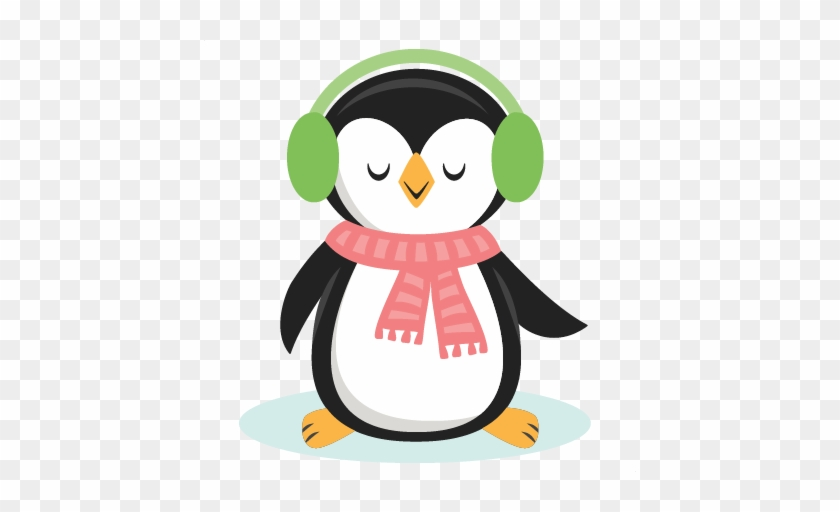 Winter Christmas Penguin Svg Scrapbook Cut File Cute - Clipart Penguin Cute Png #181531