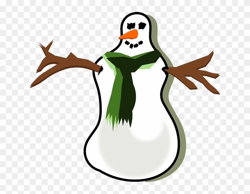 Xmas, Winter, Christmas, Snow, Scarf - Snowman #181532