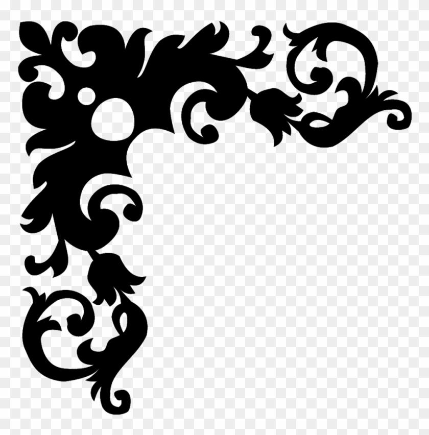 Black And White Flower Design Black And White Border Design Free
