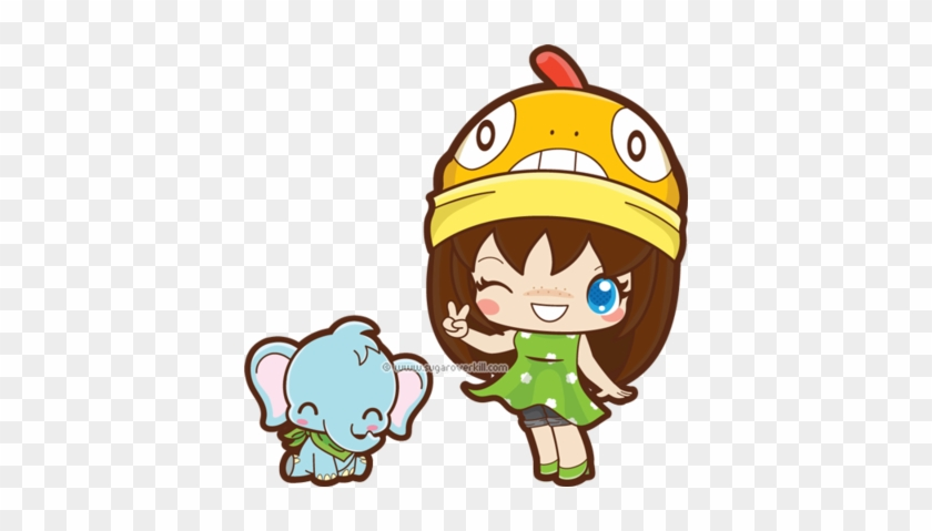The Poke Fan And Baby Elephant By Mai2x Chan - Baby Elephant Chibi #181709