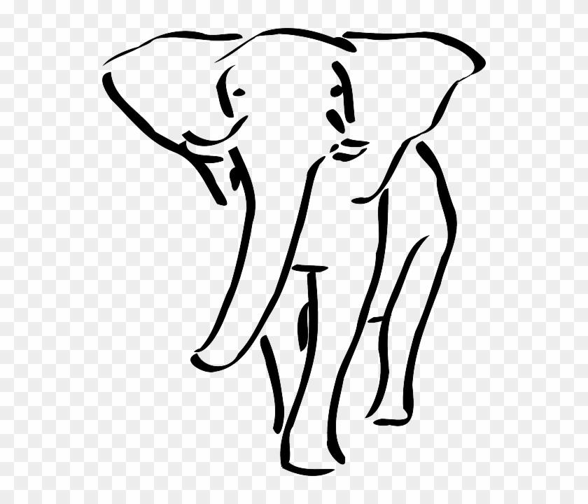 Elephant Outline - Elephant Outline Embroidery Design #181749