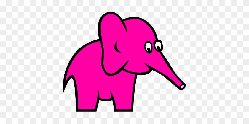 Elephant Animal Pink Cute Girly Side Carto - Custom Baby Elephant Shower Curtain #181778