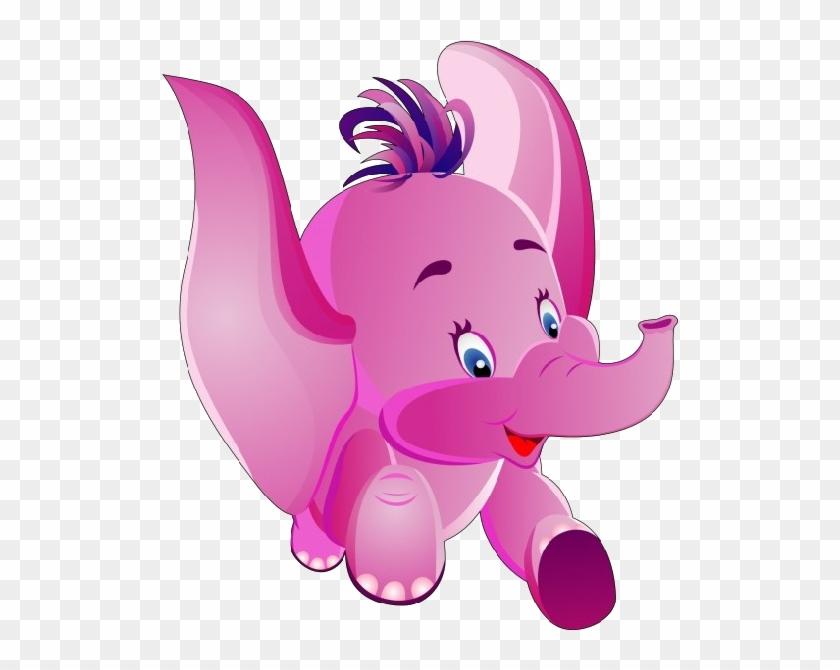 Animals For > Cute Pink Elephant Cartoon - Pink Baby Elephant Images Cartoon #181788