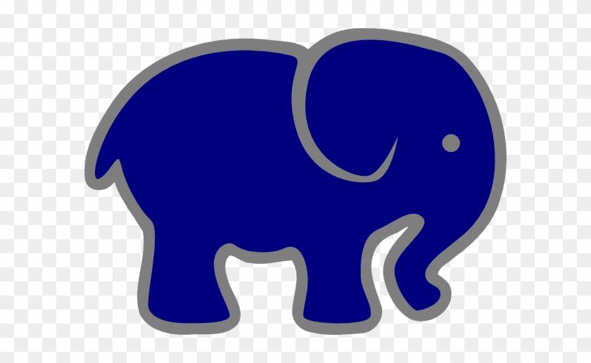 Gray Clipart Blue Elephant - Navy And Grey Elephant #181825
