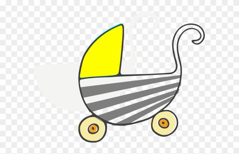Gray Stroller Clip Art At Clkercom Vector - Baby Shower Clip Art #181845