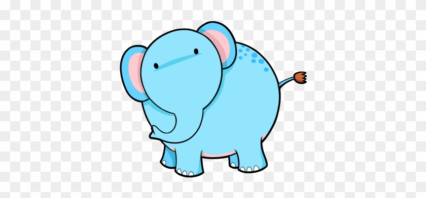 Cartoon Baby Elephants - Blue Elephant #181850