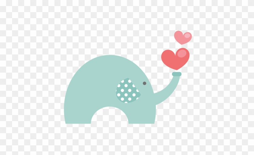 Valentine Elephant Svg File For Scrapbooking Cardmaking - Valentines Day Cute Miss Kate Cuttables #181864