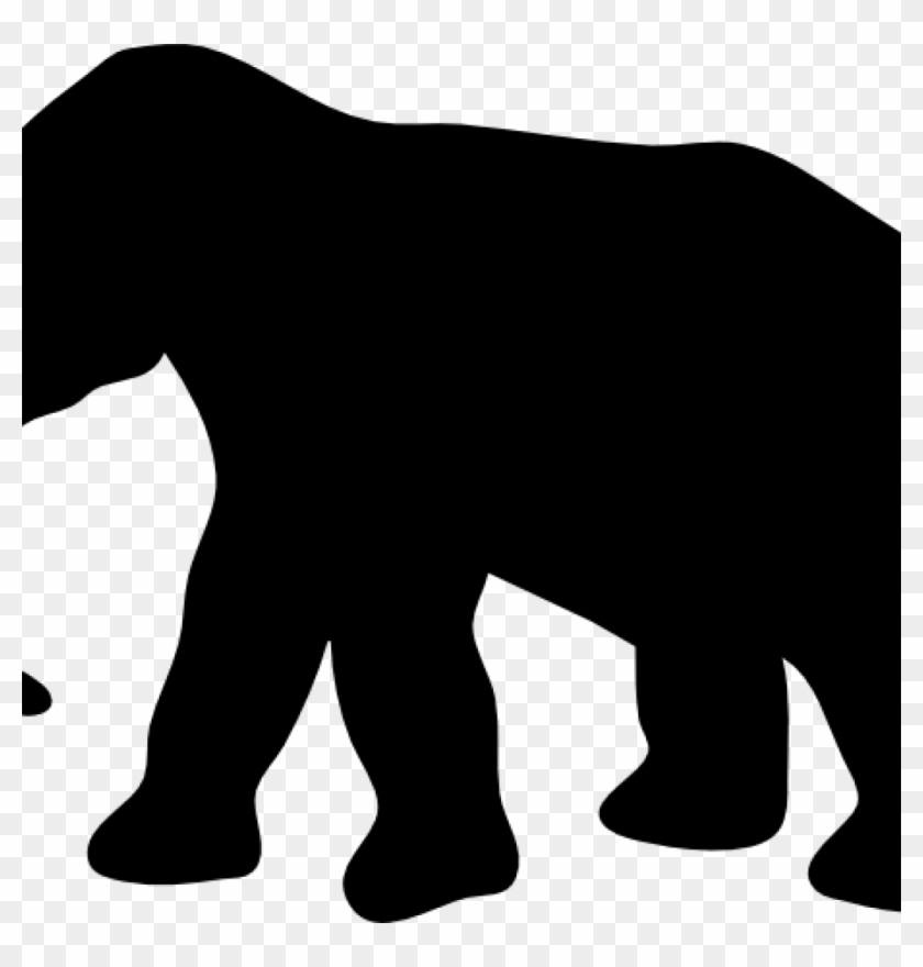 Elephant Clipart Outline Contour Elephant Clip Art - Elephant Silhouette #181906