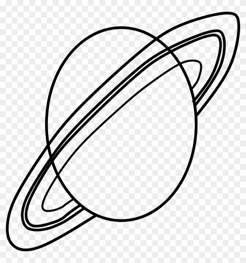 Planet Saturn Clipart Black & White - Planet Clipart Black And White #181926