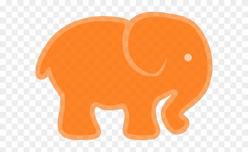 Orange And Grey Elephant #181928