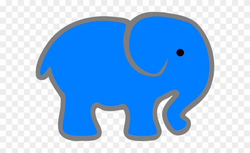 Blue Elephant Clip Art At Bclipart Com Vector Clip - Blue Elephant Clip Art #181946