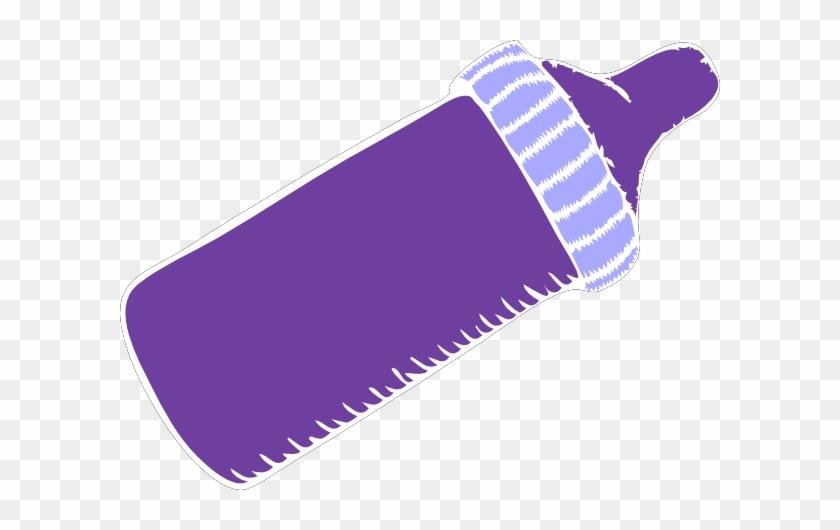 Purple Baby Bottle Clip Art At Clker - Purple Baby Bottle Clip Art #182031