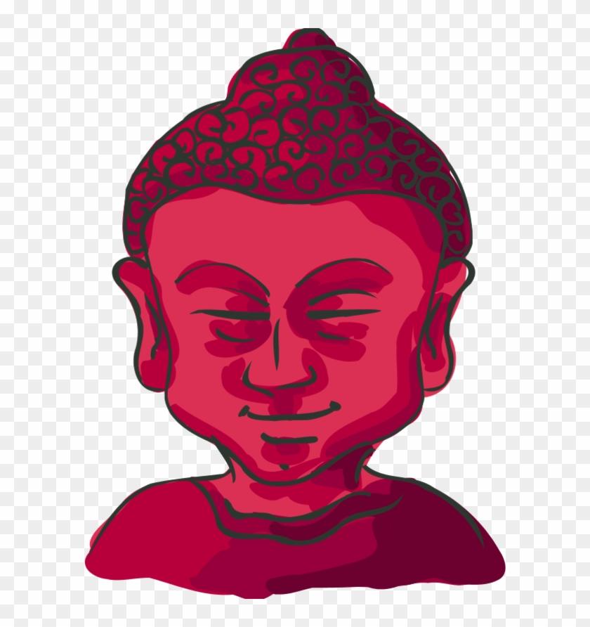 Vector Clip Art - Buddha Cartoon #182066