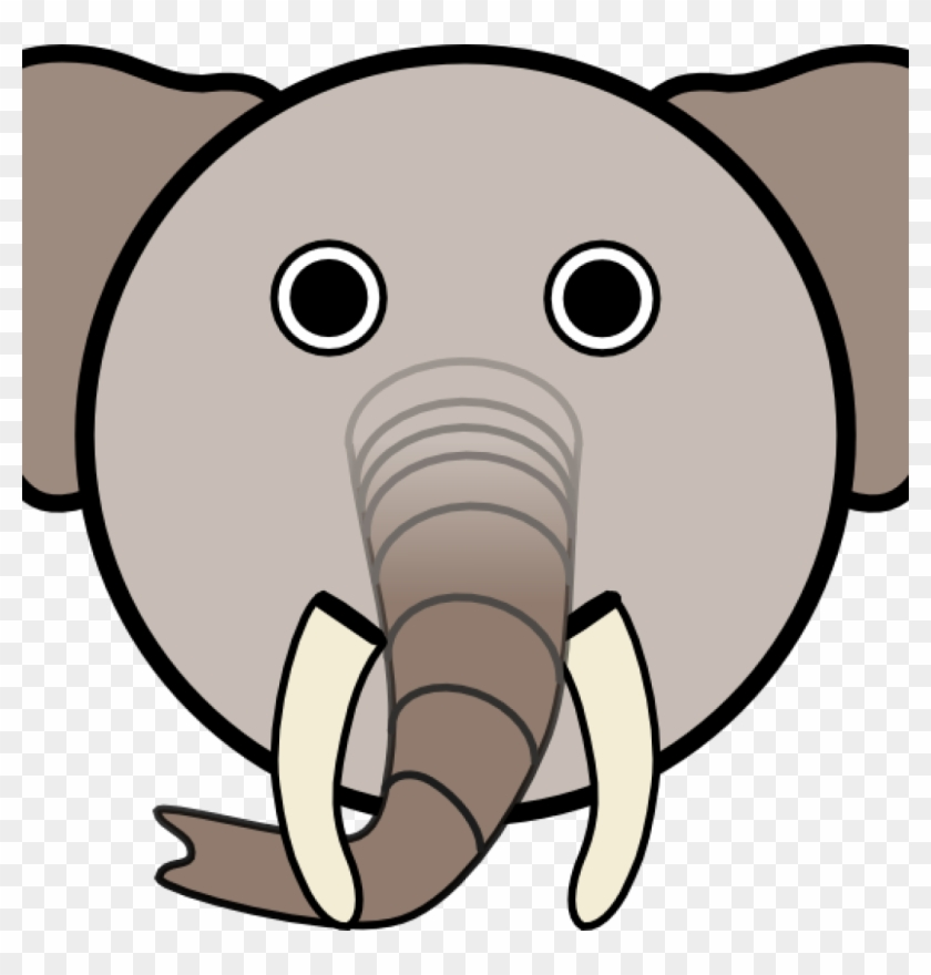 Elephant Face Clipart Elephant With Rounded Face Clip - Elephant Face Cartoon #182081
