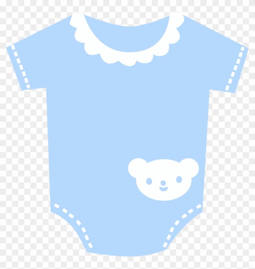 Grávida E Bebê - Blue Baby Onesie Clipart - Free ...