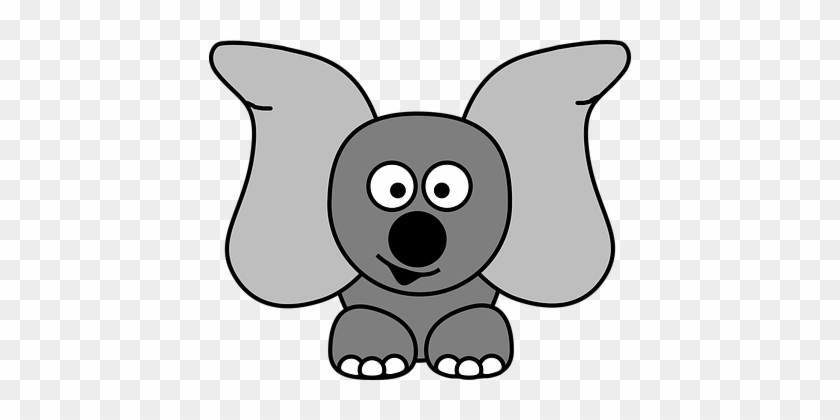 Jug Ears, Elephant, Dumbo, Ears, Grey - Cute Hippo Clipart #182100