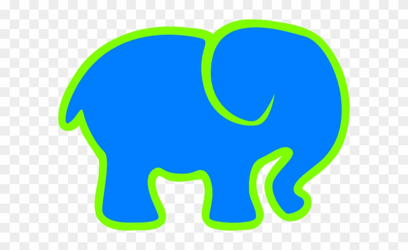 How To Set Use Blue & Green Elephant Svg Vector - Blue And Green Elephant #182127
