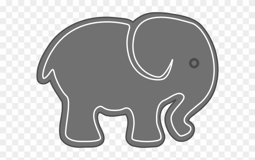 Elephant In Grey And Yellow #182129