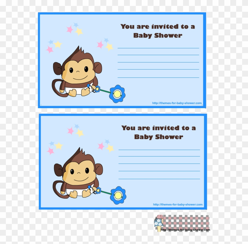 Monkey Baby Shower Kit For Baby Boys Invitations, Cards - Baby Shower #182149