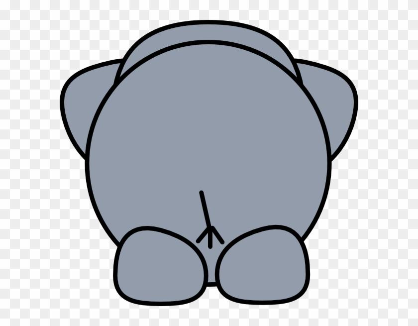 Elephant Back Clip Art - Elephant Drawing Cartoon #182180