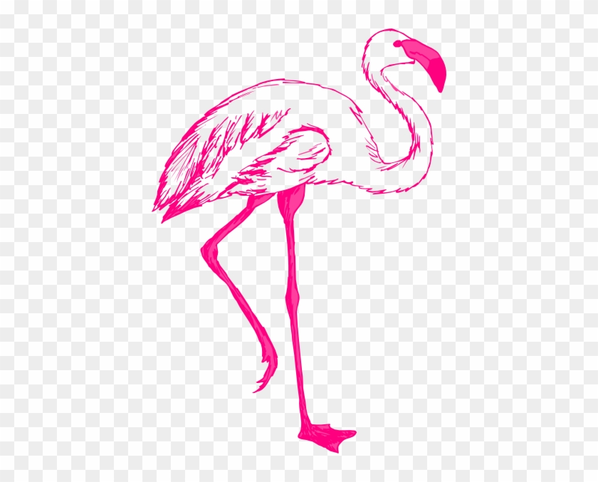 Pink Flamingo Outline Clip Art - Pink Flamingo Outline #182197