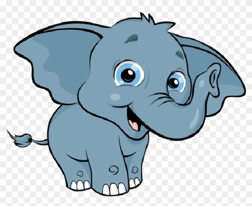 Cute Elephant Clipart Ba Elephant Cartoon Ba Elephant - Elephant Clipart #182288