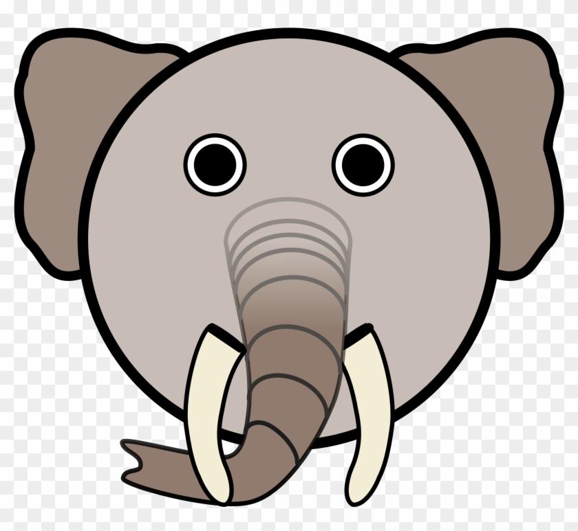 Linuxien Elephant Bclipart - Elephant Cartoon Face #182344