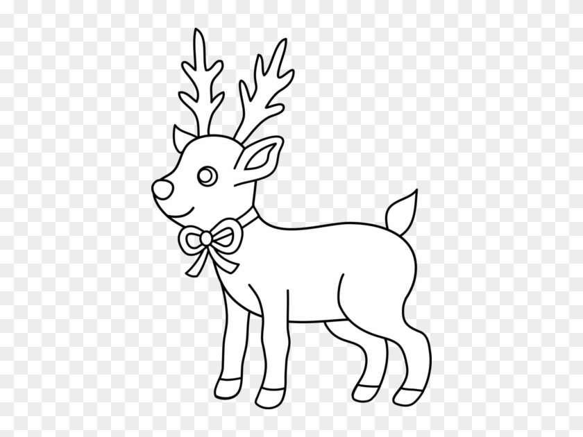 Cute Reindeers Christmas Coloring Pages #1027431