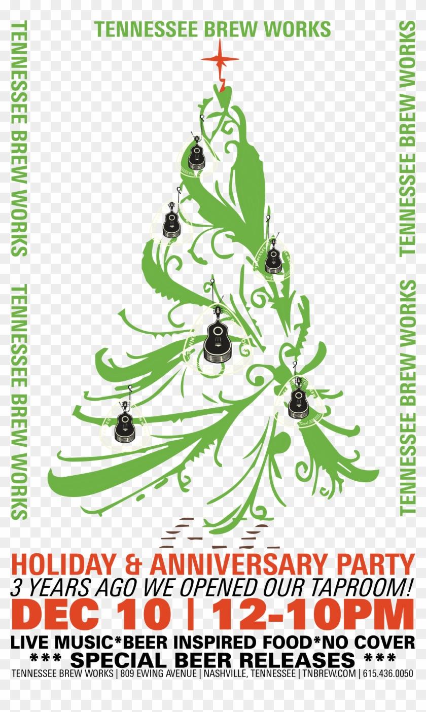 Tennessee Brew Works - Christmas Tree Black Vinyl Wall Art, Size Medium #1027882