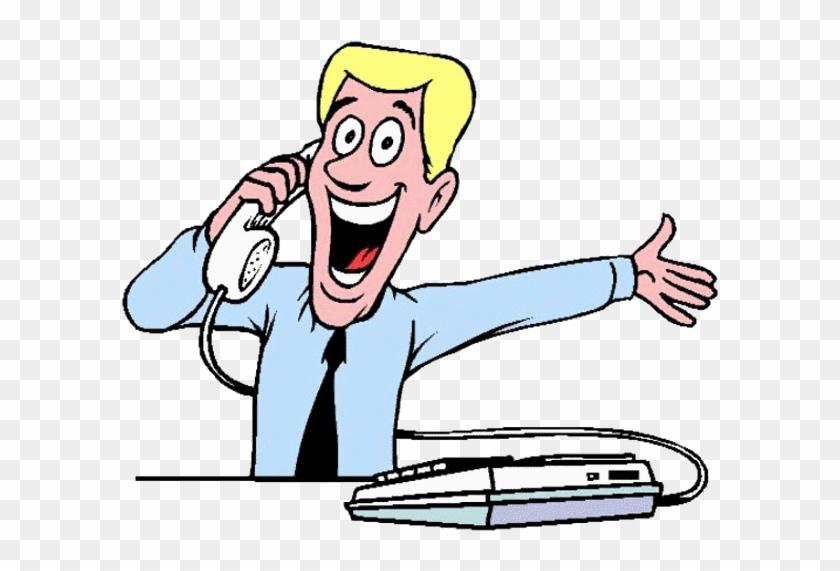 Cartoon talking on phone Funny Cartoon