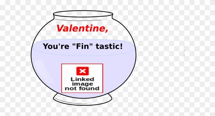 Goldfish Valentine Clip Art At Clker Com Vector Clip - Fish Bowl Clipart #1028894