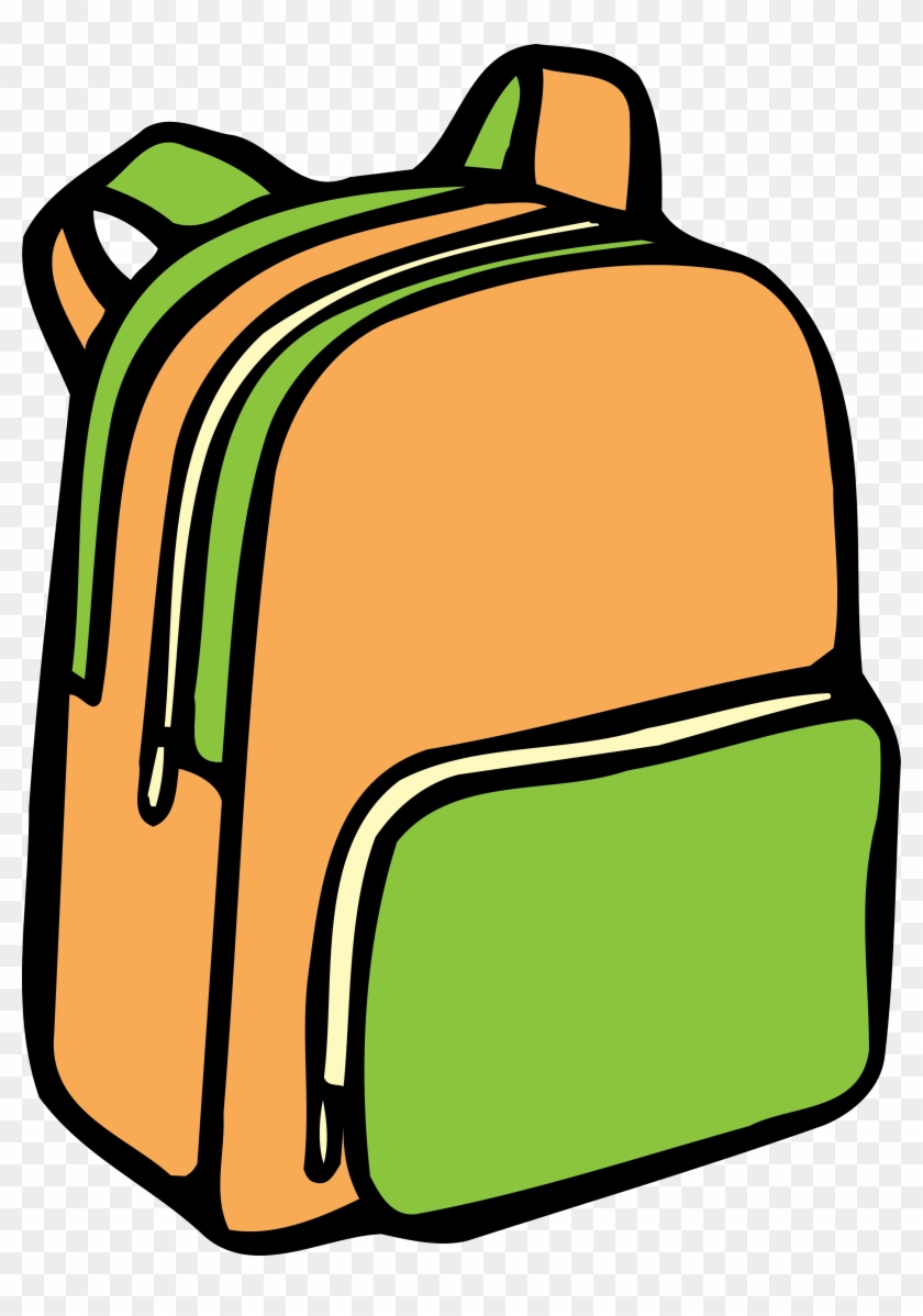 Yükle - Backpack Clipart Black And White #1029085