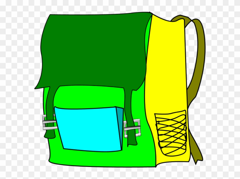 School Bag Vector Clip Art - Backpack #1029092
