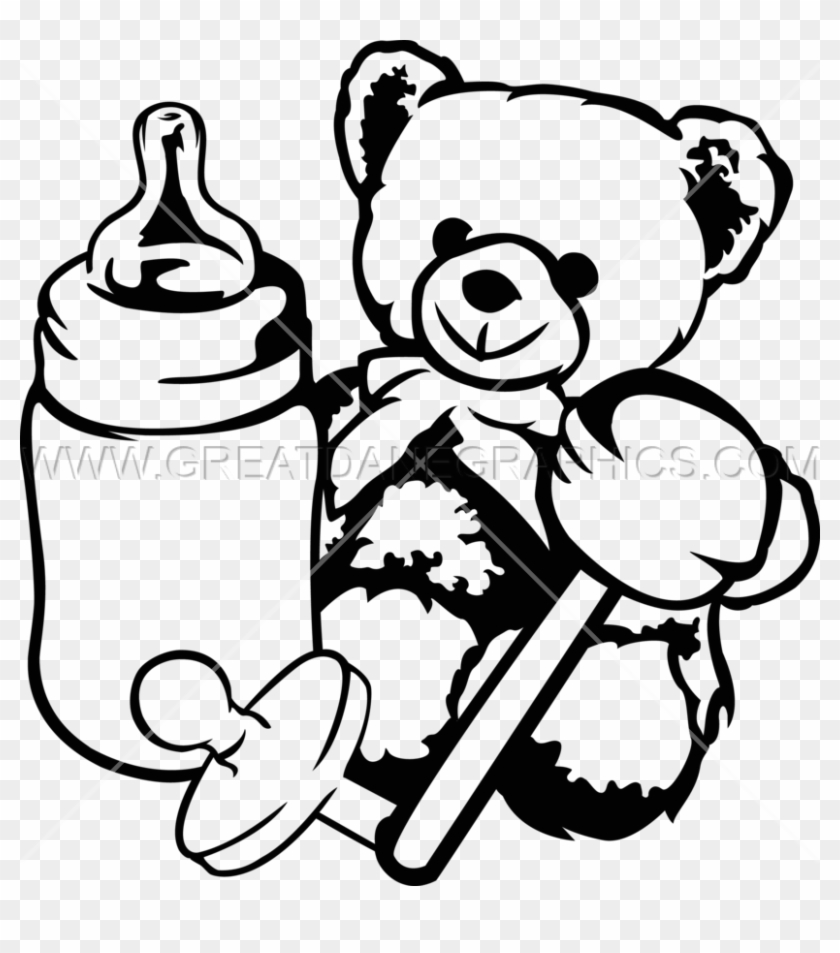 Baby Toys Clipart In Black And White 101 Clip Art - Baby Toys Black And White Clipart #1029146