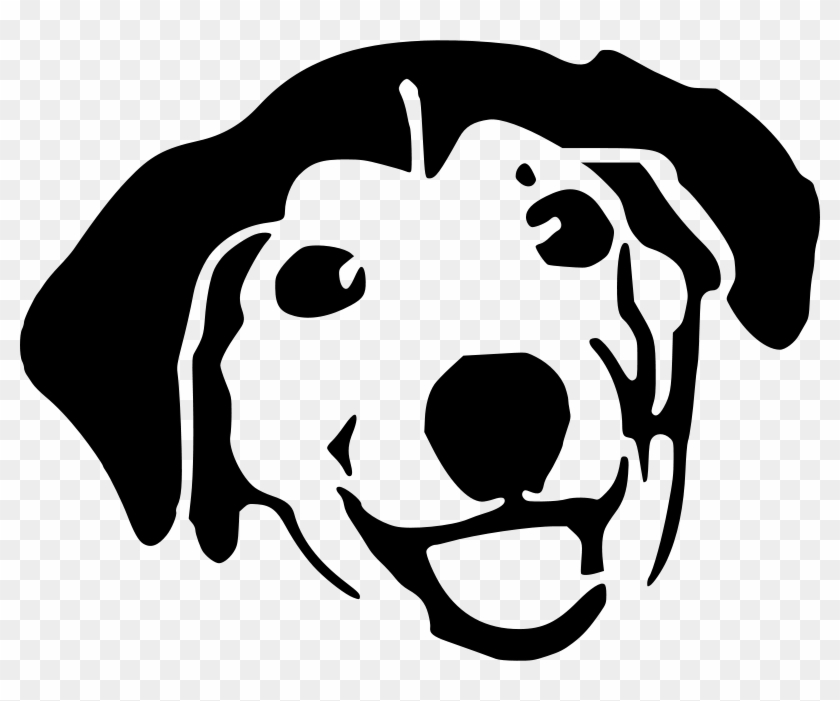 Dog Face Cartoon Black And White Free Transparent Png Clipart Images Download