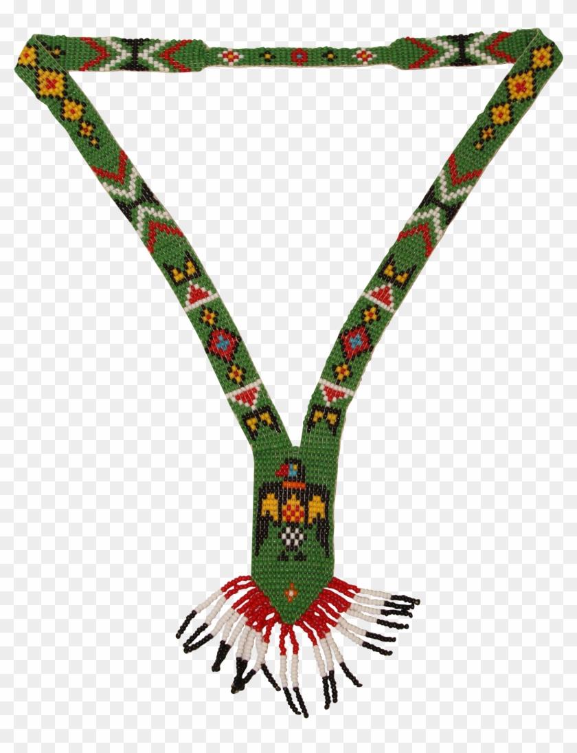 Handmade Native American Bead Necklace - Handmade Native American Bead Necklace - Beadwork Jewelry #1029871