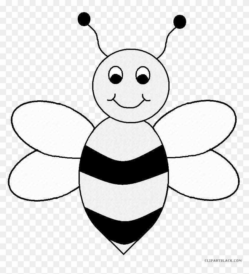 Small Bee Animal Free Black White Clipart Images Clipartblack - Color Of A Bee #1030298