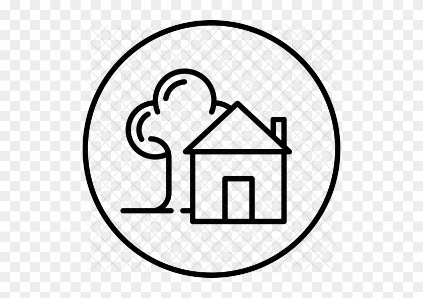 Hut, Farm, House, Tree, Agriculture, Home Icon - House Icon With Tree #1030370