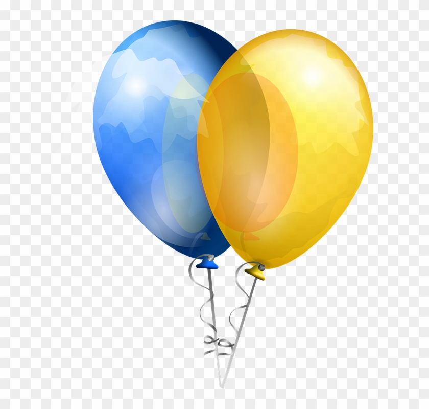 Blue And Yellow Balloons Png #1030384