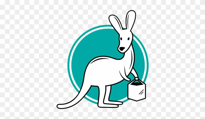 Click The Kangaroo To Find Out If We Deliver Near You - Food Start Up Logos #1030803