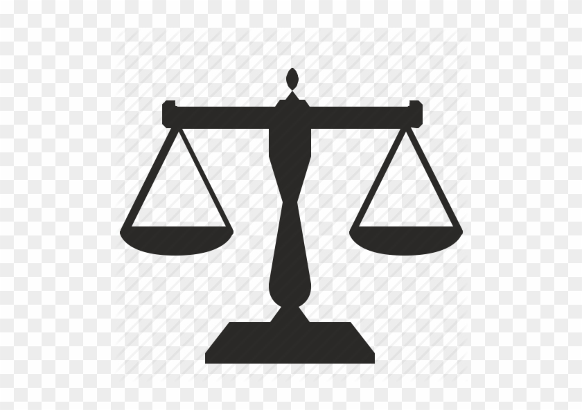 Legal Center Or Law Advocate Icon With Symbol Of Justice Weighing
