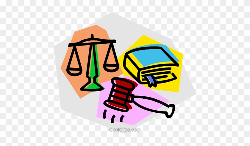 Gavel, Law Book, And Scales Of Justice Royalty Free - Derechos Fundamentales En Mexico #1032556