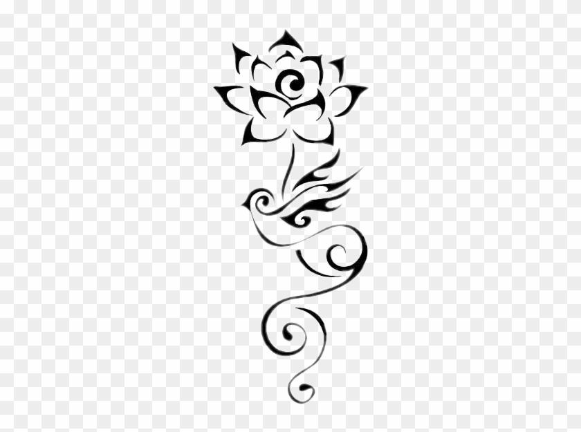 素材 freetoedit lotus flower tattoo free transparent png clipart