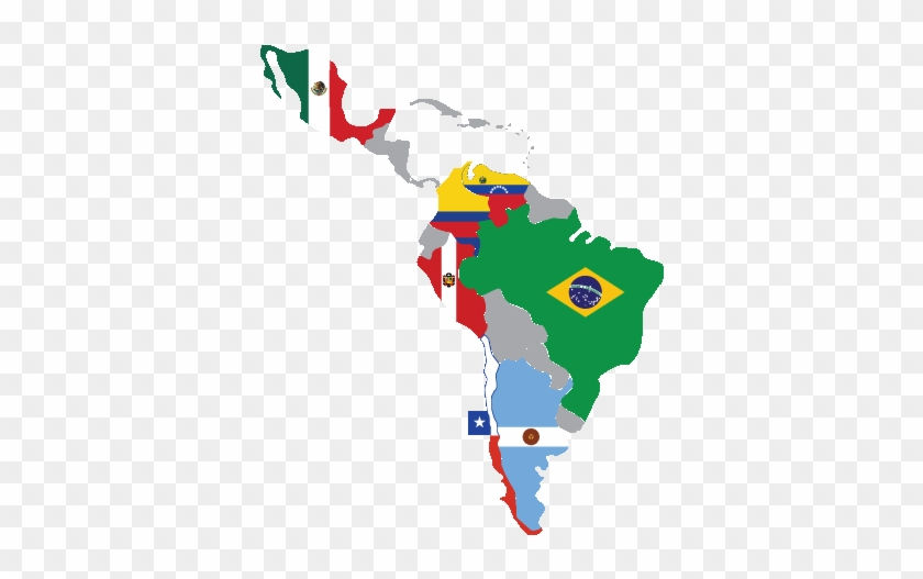 Latin America Map With Flags Clipart - Spanish Speaking Countries ...