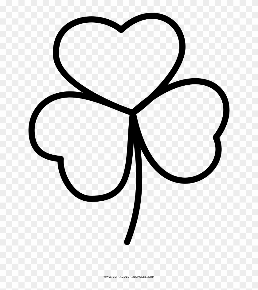 Three Leaf Clover Coloring Page Four Leaf Clover Free