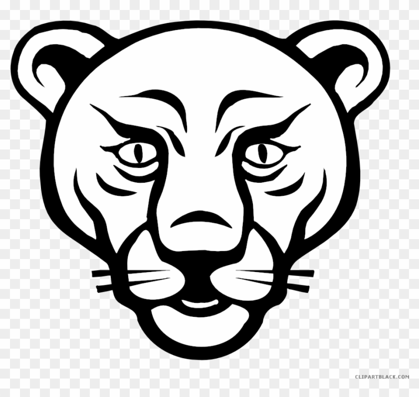 Lion Face Animal Free Black White Clipart Images Clipartblack - Animals Faces To Draw #1034471