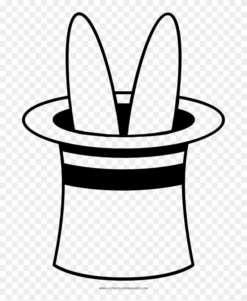 Rabbit In Hat Coloring Page Coelho Na Cartola Para Colorir