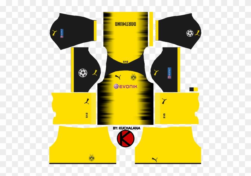 Borussia Dortmund Kits 2017/2018 - Kits Dream League Soccer 2018